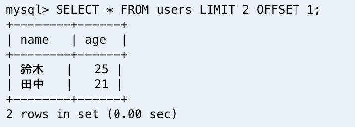 MySQL】取得するデータの行数を制限する(limit や offset の